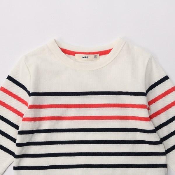 【MPS(150・160cm)】ボーダー7分袖Tシャツ(ジュニアサイズ150・160cm) キッズ