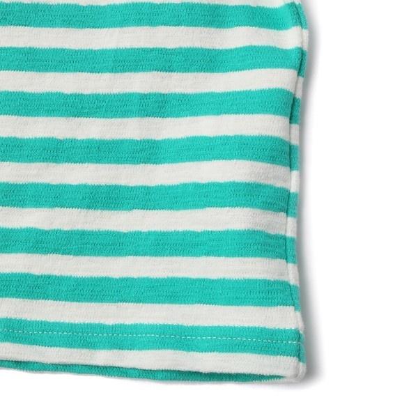 【MPS(150・160cm)】デコボコボーダー長袖Tシャツ(ジュニアサイズ150・160cm) キッズ