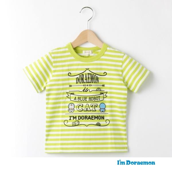 【ドラえもん】ボーダー×プリントTシャツ