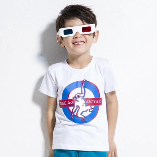 マルイウェブチャネル[マルイ]【セール】【カタログ掲載】天竺3Dメガネ付きプリントTシャツ(140cm-160cm)/ワスク(WASK)