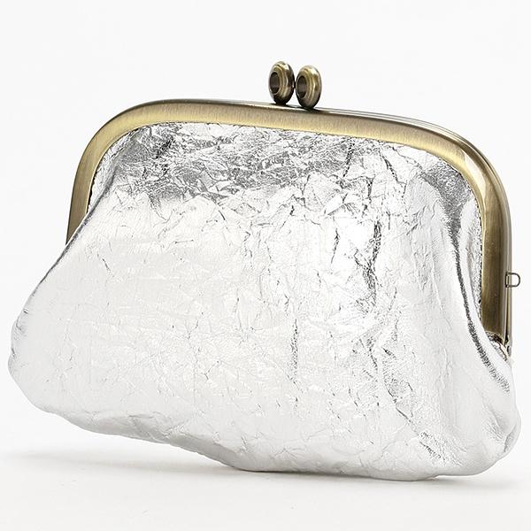 [マルイ] 【箔押し】ゴールドシルバーがま口/エクルーガレリア/アンメートルキャレ(1meter carre)