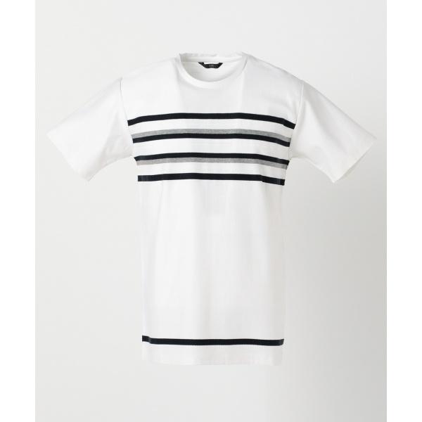 タックJQパネルボーダー Tシャツ
