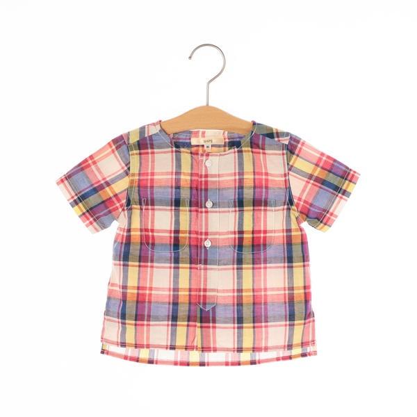 マルイウェブチャネル[マルイ]【セール】SHIPS KIDS:クルーネック 半袖 チェックシャツ(80-90cm)/シップス キッズ(SHIPS KIDS)