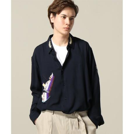 メンズシャツ(BRUTA / ブルータ TITANIC 刺繍ロングシャツ