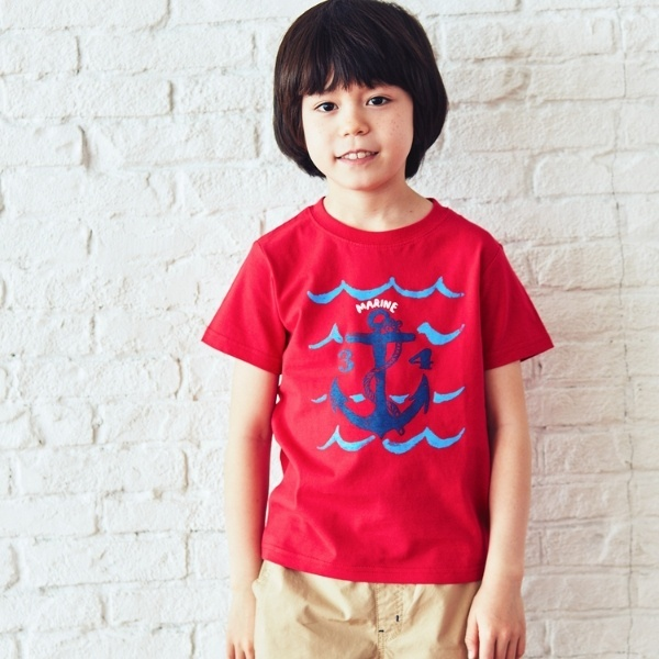 [マルイ]【セール】イカリプリントTシャツ/サンカンシオン(キッズ)(3can4on Kids)