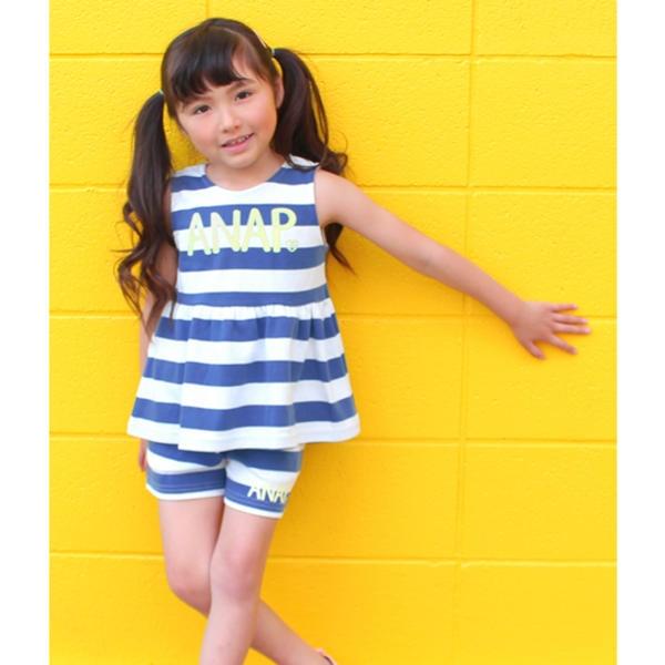 マルイウェブチャネル[マルイ]【セール】バックリボンボーダートップス+ショートパンツSET-UP/アナップキッズ&ガール(ANAP KIDS&GIRL)