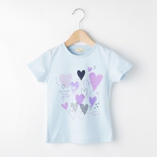 [マルイ]【セール】Tシャツ(ランダムハートTシャツ)/ハッシュアッシュ(キッズ)(HusHusH Kids)