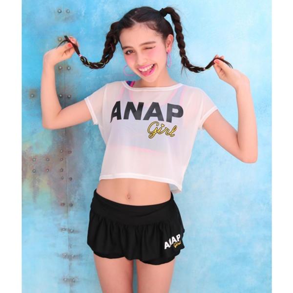 マルイウェブチャネル[マルイ] 筆記体3点SET水着/アナップキッズ&ガール(ANAP KIDS&GIRL)