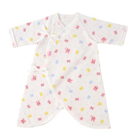 bb1404328c771 ミキハウス ホットビスケッツのコンビ肌着<出産準備アイテム>新生児用の肌着です。