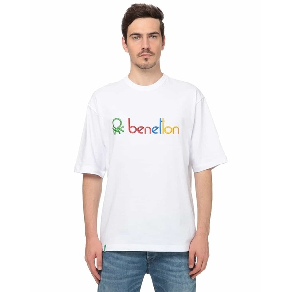 [マルイ] ロゴ刺繍Tシャツ・カットソー(men's FUDGE8月号掲載)/ベネトン メンズ(UNITED COLORS OF BENETTON)