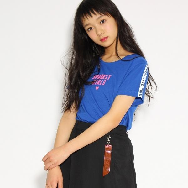 [マルイ]【セール】ロゴテープスリーブ Tシャツ/ピンク ラテ(PINK latte)