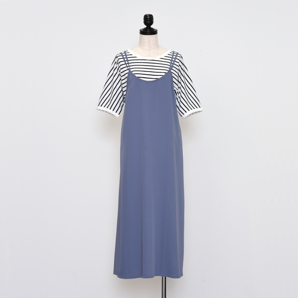 [マルイ]【セール】キャミワンピースxTシャツ ツインセット/プードゥドゥ(POU DOU DOU)