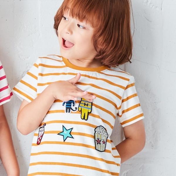 マルイウェブチャネル[マルイ]【セール】Tシャツ(わくわくワッペンTシャツ)/ハッシュアッシュ(キッズ)(HusHusH Kids)