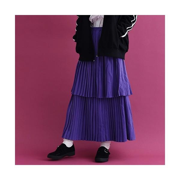 マルイウェブチャネル[マルイ]【セール】ダブルティアードプリーツスカート1664/メルロー(merlot)