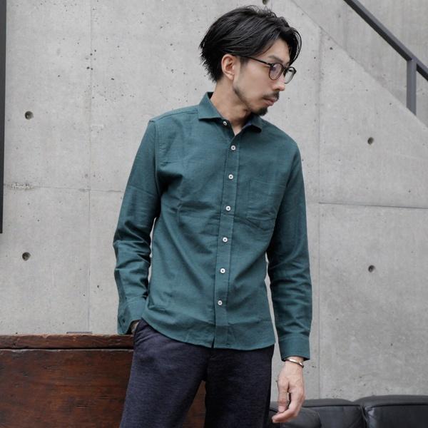 [マルイ] ストレッチネルホリゾンタルカラーシャツ/メンズメルローズ(MEN'S MELROSE)