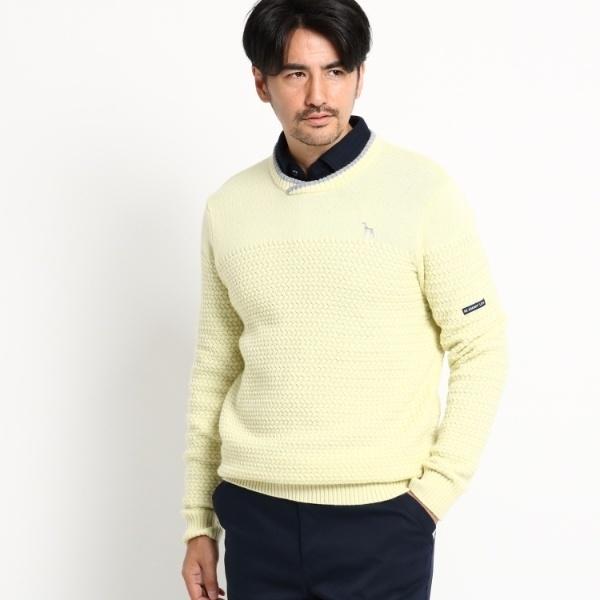 [マルイ]【セール】Mセーター(バスケット柄 セーター メンズ)/アダバット(メンズ)(adabat(Mens))