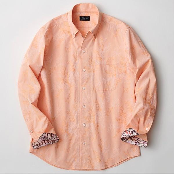 [マルイ] オリジナルボタニカルジャガードシャツ/メンズビギ(MEN'S BIGI)
