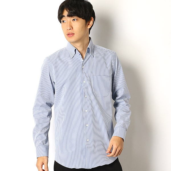 [マルイ] エバレットサッカーストライプシャツ/メンズビギ(MEN'S BIGI)