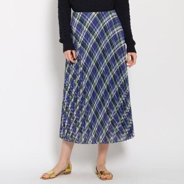 [マルイ] Lスカート(シアーチェックプリーツスカート)/ドレステリア(レディス)(DRESSTERIOR Ladies)