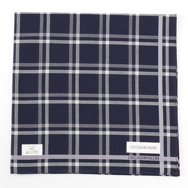 [マルイ] 【48×48cm】先染めハンカチ(メンズ)/カルバンクライン(Calvin Klein HANDKERCHIEF)
