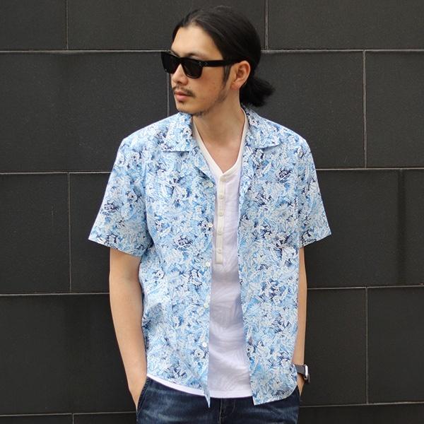[マルイ] 【JAPAN BLUE JEANS】フラワープリントオープンカラーコラボシャツ/メンズビギ(MEN'S BIGI)
