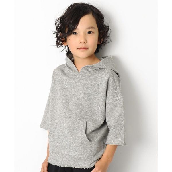 [マルイ]【セール】子供服 長そで 長袖 キッズ 韓国子供服 切りっぱなし7分袖パーカー 男の子 女の子 トップス/デビロック(devirock)