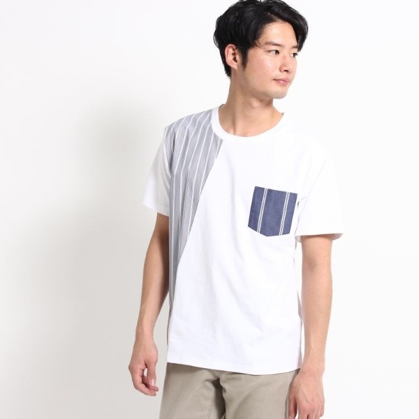 [マルイ]【セール】切替Tシャツ/ザ ショップ ティーケー(メンズ)(THE SHOP TK Mens)