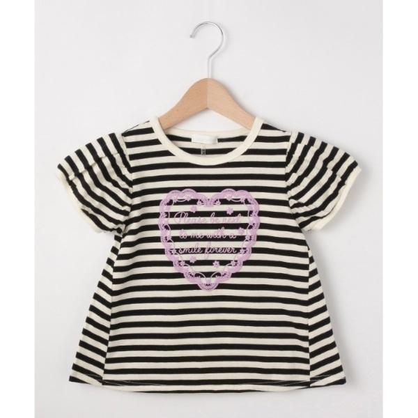 [マルイ]【セール】【80-130cm】ハート発泡Aラインパフ袖Tシャツ/シューラルー(キッズ)(SHOOLARUE Kids)