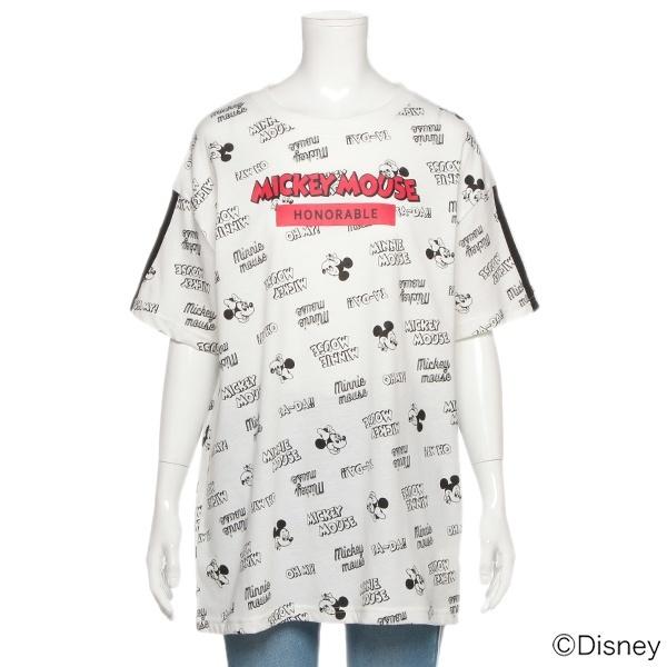 e3373b0026210  マルイ  DISNEY ロゴミッキーデザインビッグTシャツ ラブトキシック(Lovetoxic) □カラー:オフホワイト  □サイズ:M(150)、L(160) □ラブトキシックのDISNEY ...
