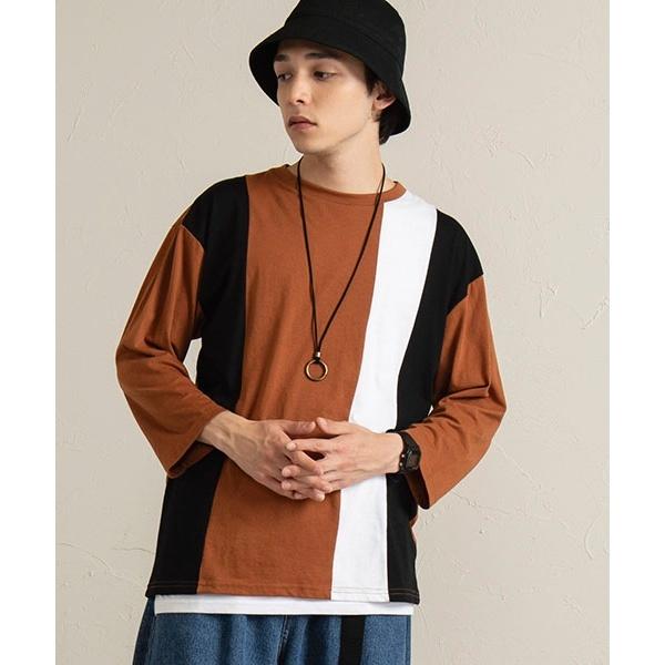 [マルイ]【セール】【3点セット】アクセ付きアンサンブル切替7分袖Tシャツ/ウィゴー(メンズ)(WEGO)