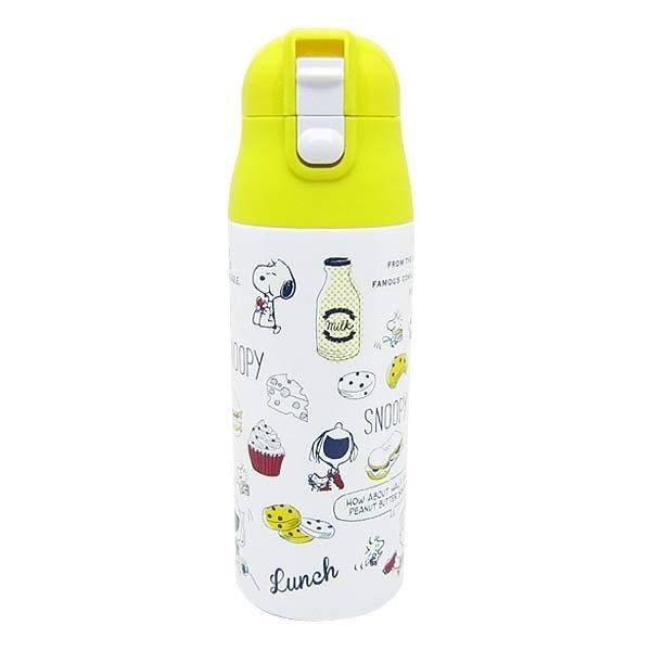 マルイウェブチャネル[マルイ] スヌーピー ワンプッシュステンレスボトル軽量 (水筒) ランチタイム 総柄 ランチ用品 (ORSN)/パーフェクト・ワールド・トーキョー(Perfect World Tokyo)