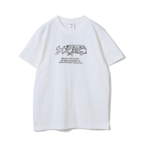 [マルイ] NAIJEL GRAPH × Ray BEAMS / 別注 Yellow Wagon Tシャツ/レイ ビームス(Ray BEAMS)