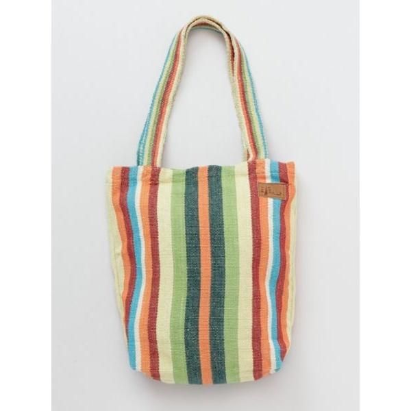 [マルイ]【セール】【チャイハネ】ボーダー織りトートバッグ/チャイハネ(CAYHANE)