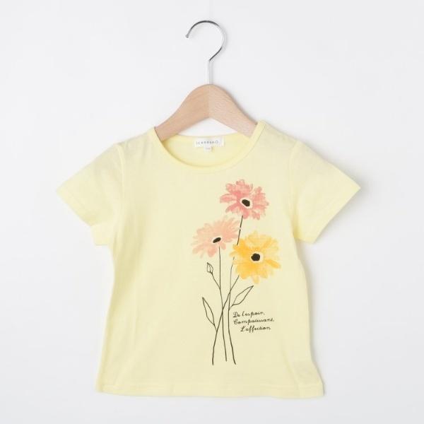 [マルイ]【セール】【コットン100】【90cm150cm】水彩フラワープリントTシャツ/サンカンシオン(キッズ)(3can4on Kids)