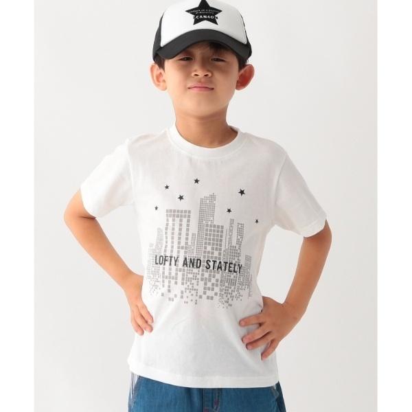 [マルイ]【セール】【コットン100】【90cm150cm】ロゴ&ビルプリントTシャツ/サンカンシオン(キッズ)(3can4on Kids)
