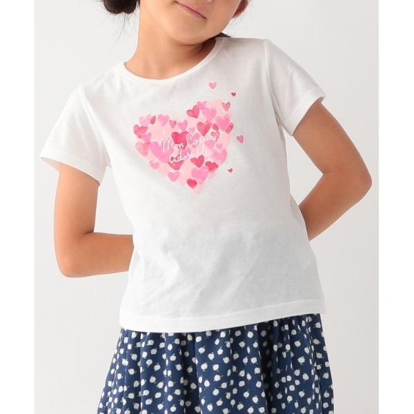 [マルイ]【セール】【コットン100】【110cm150cm】ハートプリントTシャツ/サンカンシオン(キッズ)(3can4on Kids)