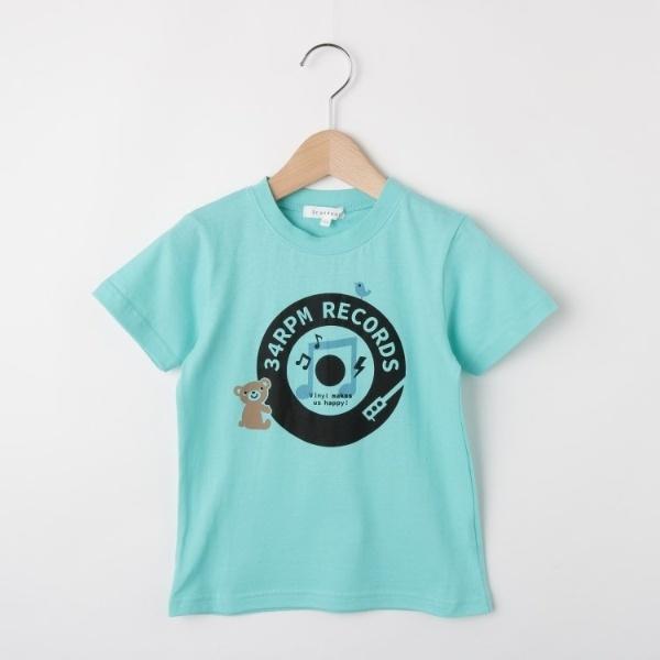[マルイ]【セール】クマ&ドーナッツ盤プリントTシャツ/サンカンシオン(キッズ)(3can4on Kids)