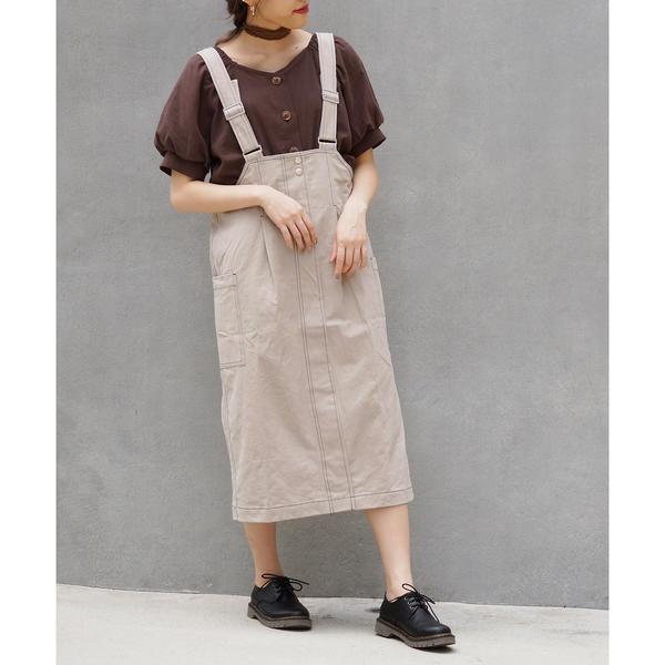 [マルイ] コットンツイルジャンパースカート/179/WG(179 WG)
