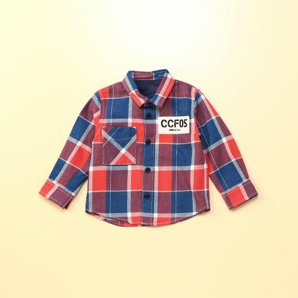 マルイウェブチャネル[マルイ]【セール】インディゴチェックシャツ/コムサフォセット(COMME CA FOSSETTE)