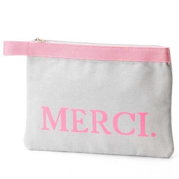 [マルイ]【セール】Canvas MERCI. Clutch Bag / キャンバス MERCI. クラッチバッグ/カロンディ(Calondy)