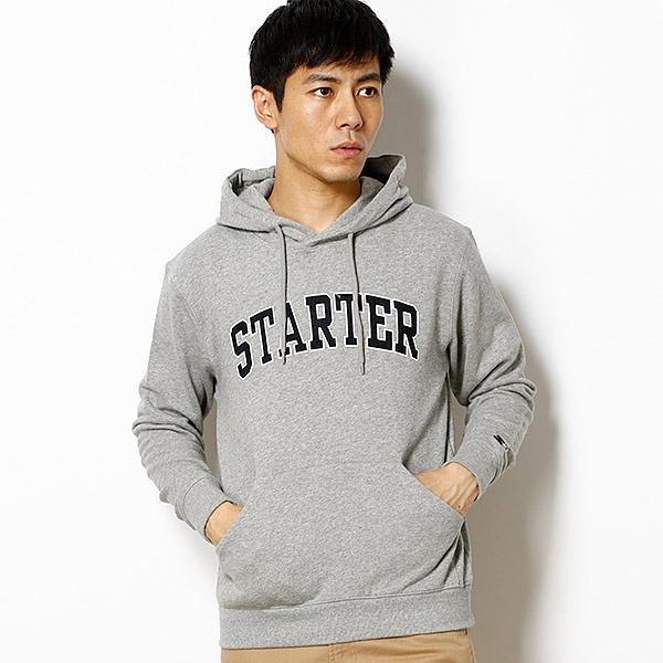 【STARTER(スターター)】ロゴプリントプルパーカー