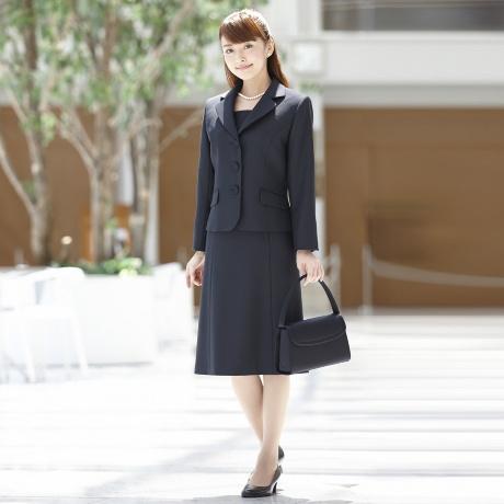 054f465f80a09 お受験スーツ 濃紺 3ツボタンテーラードジャケットアンサンブル 入学式 ...