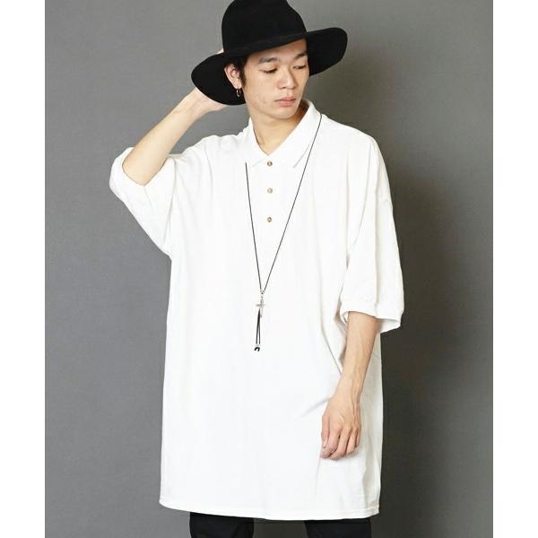 スーパーオーバーサイズビッグシルエットポロシャツ