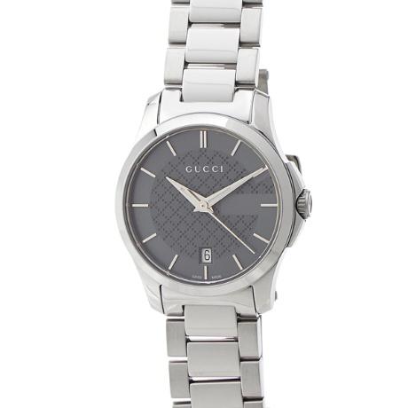 Gタイムレス YA126522 クオーツ グレー 【限定品】 腕時計 グッチ