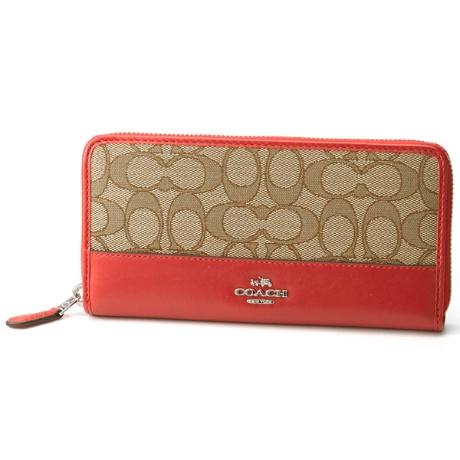 70b00de65a73 コーチ(COACH)の財布(アコーディオン ジップ ウォレット シグネチャー ジャカード)。・
