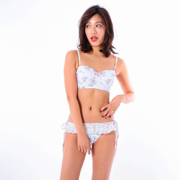 [マルイ]【セール】水着 小花柄ビスチェ風ワイヤービキニ 9号(M)/MERCURY DUO(マーキュリーデュオ)