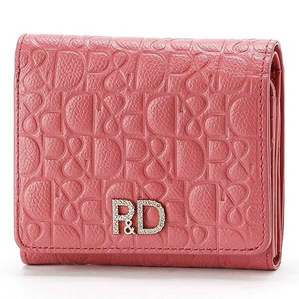ダイヤモンドダスト L字ファスナー二つ折り財布