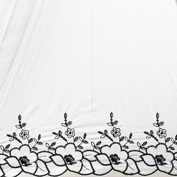 【晴雨兼用/遮光率&UV遮蔽率99%以上/遮熱効果】裾花刺繍スライドショート日傘