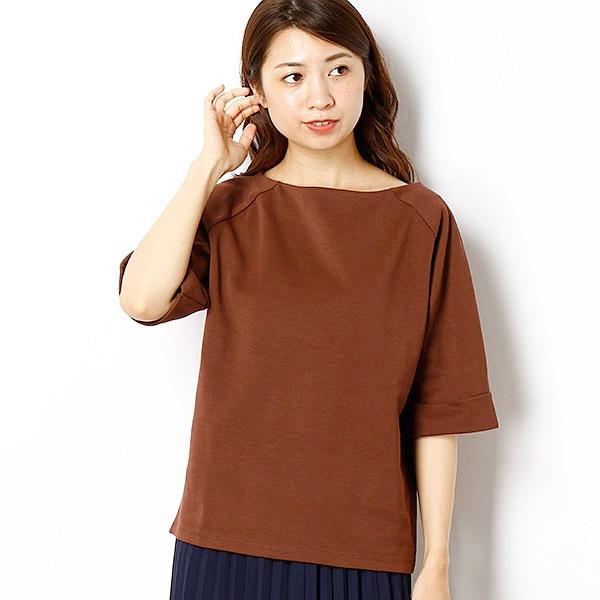 【豊富なサイズXS~7L】5分袖プルオーバー