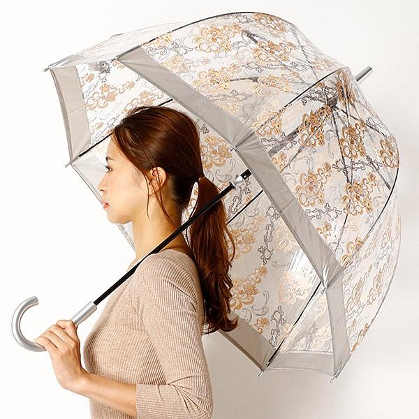 雨傘(ビニール傘)【英国王室御用達】(レディース)レース柄